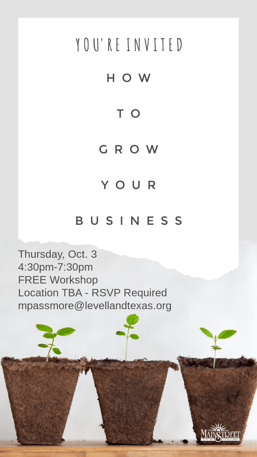 How to Grow Your Biz Workshop